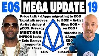 EOS Mega Update 19: Tapatalk & dApps migrate to EOS, Juicy J likes EOS,INFEOS,pEOS,Huobi freezes EOS