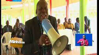 Mirindimo:Wanafunzi wa KMTC Nyeri kuandamana hadi kupotea kwenye afisi ya gavana.