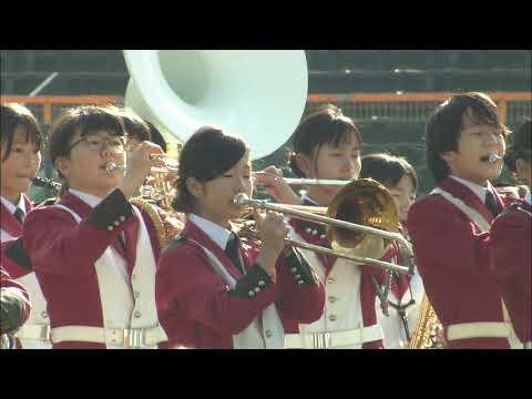 第73回毎日甲子園ボウル 上甲子園中学校吹奏楽部によるハーフタイムショー