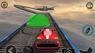 IMPOSSIBLE CAR 3D STUNT TRACKS - Android / iOS Gameplay - Best Car Unlocked Racing