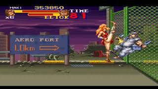 SNES 1993 FINAL FIGHT 2 MAKI STAGE 2