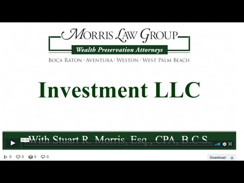 Wealth Preservation Planning Series: Investment LLC