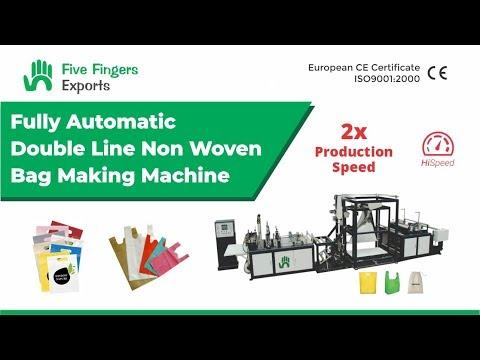 Automatic Non Woven Bag Making Machine - Double Line