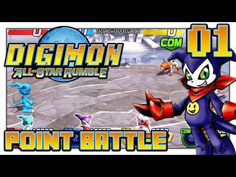 Digimon All-Star Rumble - He Has A Gun?! - Point Battle (3-players)