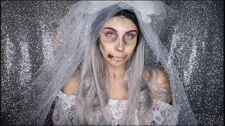 GREAT LAST MINUTE HALLOWEEN COSTUME- Dead bride makeup tutorial