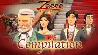 1 Heure COMPILATION  Les Chroniques de Zorro   Episode 1 - 3   Dessin animé de super-héros