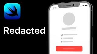 SwiftUI - Redacted Tutorial | iOS 14 | Xcode 12.4