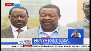 Former Meru Governor Peter Munya decamps to NASA ahead of October's presidential re-run