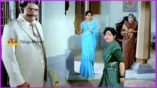 Shavukaru Janaki & Nuthan Prasad Comedy Scene - In Samsaram Oka Chadarangam Movie
