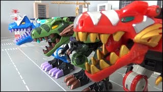 Power Rangers Dino Thunder 3 Dinosaur Megazord Toys Transformation 파워레인저 다이노썬더 3대 공룡 로봇 장난감 변신