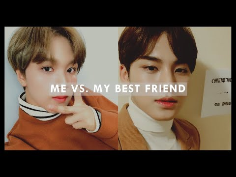 me vs. my best friend: kpop songs for different moods/situations