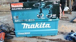 Cordless Drill Upgrade - Makita 18V Lithium-Ion Brushless Cordless Combo Kit Unboxing