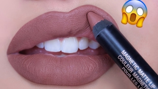 LIQUID LIPSTICK IN A PENCIL?!!!😱 NEW Nudestix Magnetic Matte Lip Colors | Swatch & Review