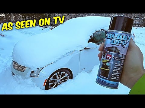 Blast Off Windshield De-Icer – ICE TEST – As Seen on TV