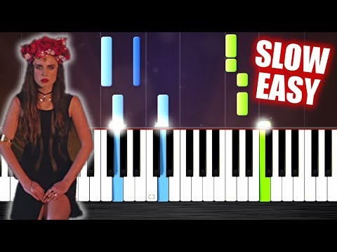 Major Lazer - Lean On - SLOW EASY Piano Tutorial by PlutaX