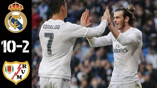 Real Madrid Vs Rayo Vallecano 10-2 -All Goals & Highlights 20/12/2015 HD (English Commentary)
