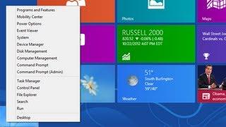 Windows 8 - Beginners Guide Part 2 - Quick Access Menu