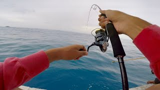 Shimano Twin Power xd c3000xg II jigging for big queenfish and cobia 12kg Part2