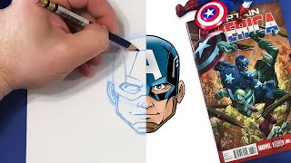 You Can Draw Captain America! | Marvel Draw!
