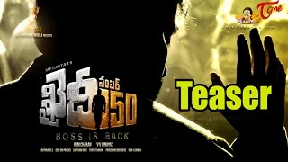 Khaidi No 150 Teaser  Chiranjeevi 150th Movie First Look  BOSS IS BACK  2016MovieTrailers