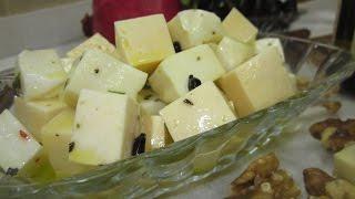 Рецепт- Сыр в медовом маринаде