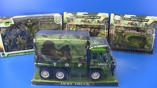 Military Toys Video for Kids !! Military Guns Tanks Soldiers Trucks and More! Box of Toys