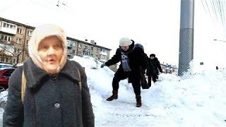 Кировская бабка 23 февраля, and  Happy End.  Attention: русский мат