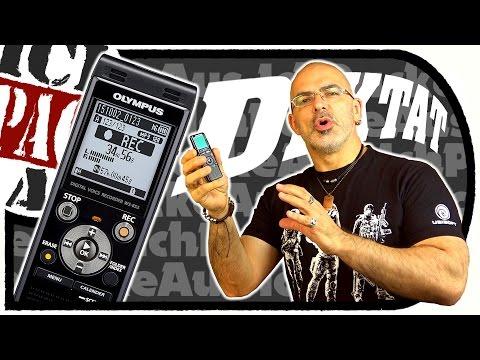 Olympus WS-853 DiGiTAL Voice RECORDER (Diktiergerät) - (Unboxing/Tonaufnahmen)
