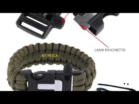 BRACCIALE IN PARACORD SURVIVAL 5 IN 1 ITALIAMILITARE.IT