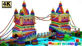 DIY - How To Build Tower Bridge Aquarium From Magnetic Balls (Satisfying)   Magnet World Series #212