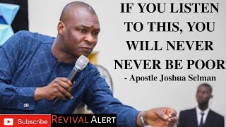 "[Guaranteed] ""if you listen to this, you will never be poor"" - Apostle Joshua Selman"