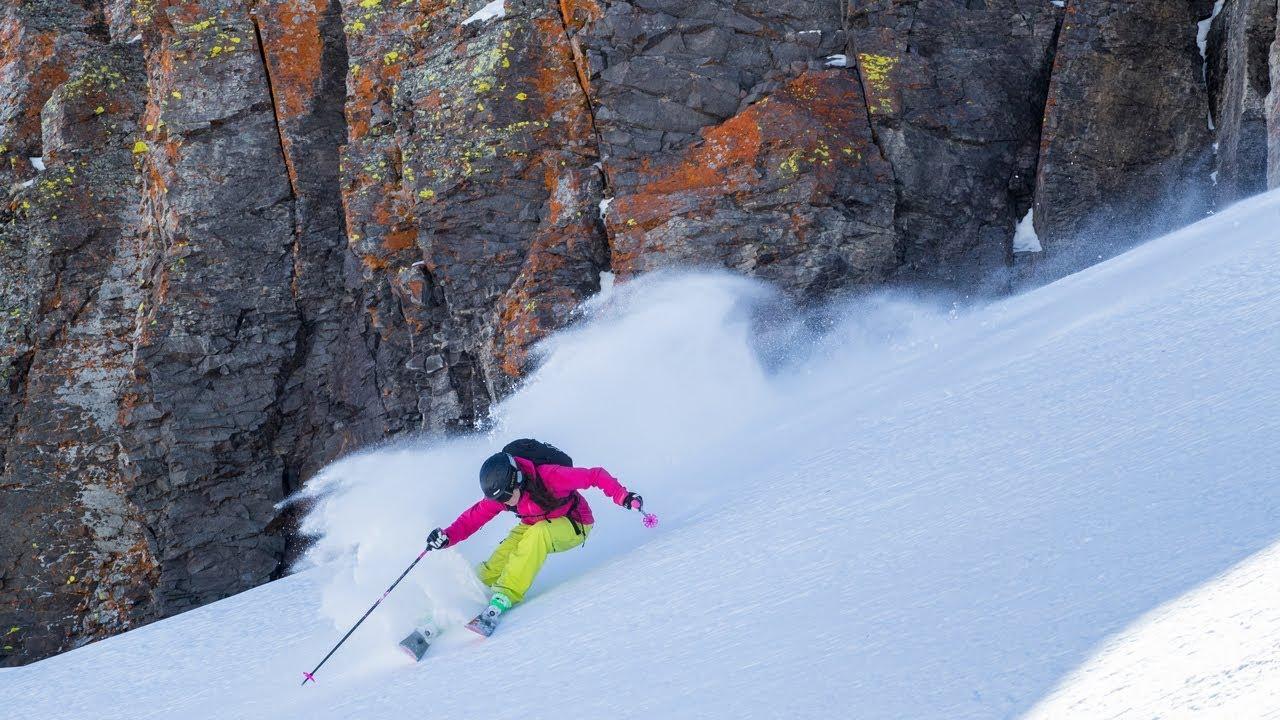 Skiing Utah Red Rock