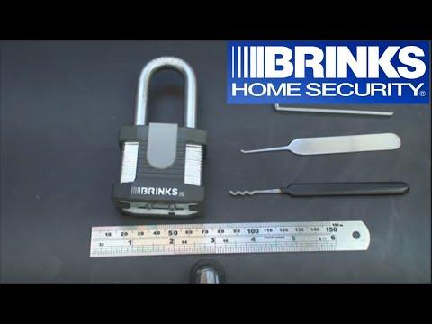 (20) Brinks High Security Laminated Padlock w/5 spool pins