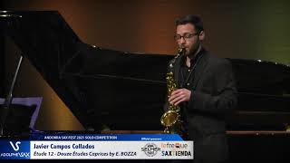 Javier Campos Collados plays Étude 12 – Douze Études Caprices by Eugène BOZZA
