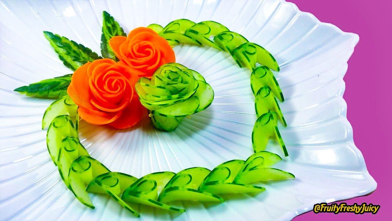 CUORE di Cetrioli e Carote ♥ Intaglio Creativo Vegetali ♥ VIDEORICETTA