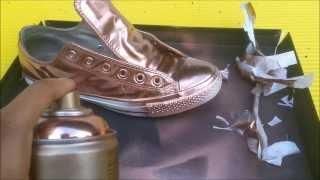 DIY Rose Gold Converse