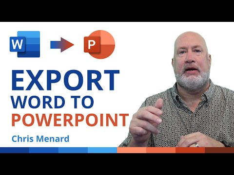 Export Word to PowerPoint with a few clicks - New Feature from Microsoft