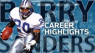 Barry Sanders UNREAL Career Highlights | NFL Legends Highlights
