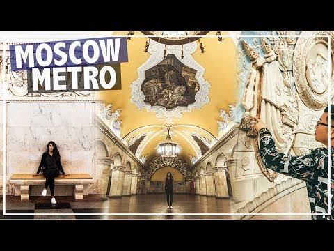 MOST BEAUTIFUL METRO IN THE WORLD! | FIFA 2018 WORLD CUP VLOG | MOSCOW, Russia