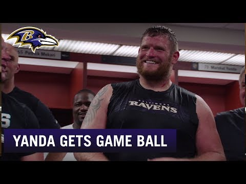 Marshal Yanda Gets Game Ball on Birthday | Baltimore Ravens