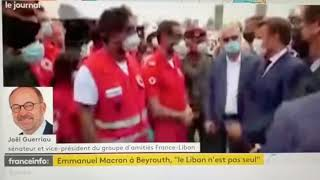 Mon intervention au JT de France info sur le déplacement d'Emmanuel Macron au Liban