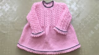 How to Knit Smart Baby Dress - Easy and Detailed Tutorial