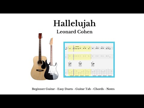 Guitar Tab - Chords - Hallelujah - Acoustic