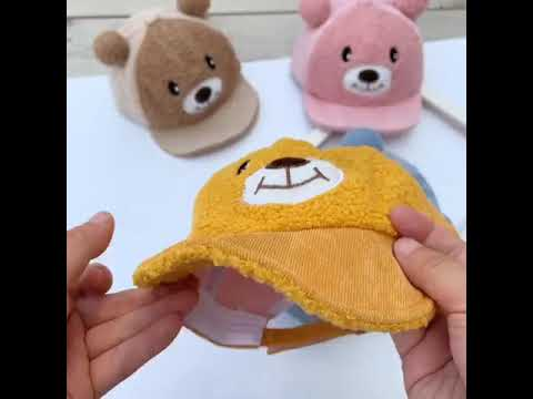 Lovely Bear with sound baseball cap