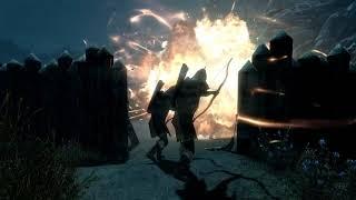 Атака стражников на лагерь бандитов. Skyrim