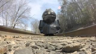611 Steam Train Rolls Over GoPro Twice
