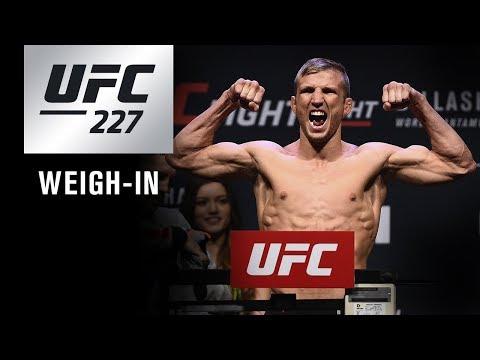La pesée de l'UFC 227