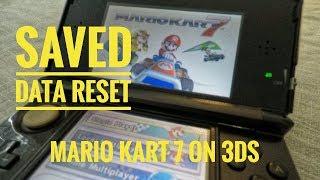 How to Reset Saved Data in Mario Kart 7 on Nintendo 3ds Walk Through