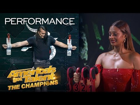 Danger Act Goes WRONG? Ben Blaque SCARES The Judges! - America's Got Talent: The Champions (видео)