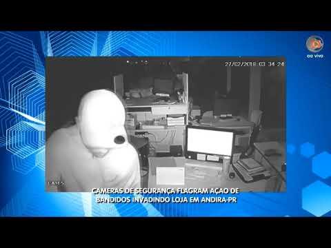 Câmeras de segurança flagram ação de Bandidos invadindo loja em Andira-PR